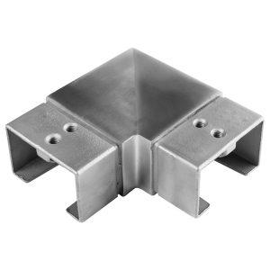 SSUTREC601 RECTANGULAR CAP RAIL HORIZONTAL 90° ELBOW FOR 60 x 40mm HANDRAIL