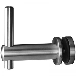 """SSGF100X04S ADJUSTABLE FIXED OFF-THE-GLASS BRACKET WITH 1 1/2"""" BACK (SS304)"""