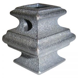 """683-2HOLES  1/2""""SQ. CAST COLLAR 1 1/2""""W x 2""""H WITH 2 HOLES"""