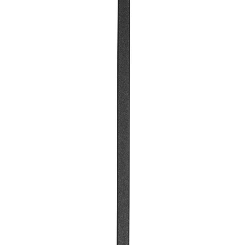 "MSBLANK44PTB 1/2""SQ. PLAIN TUBULAR BAR 44"" WITH PINTOP - TEXTURED BLACK"