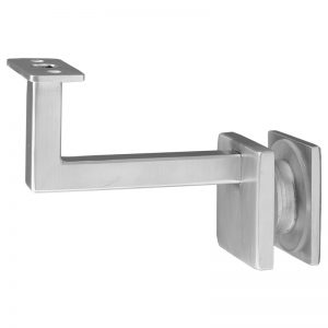 """SSZH1071104S 3 1/2"""" FIXED SQUARE OFF-THE-GLASS BRACKET WITH 50mm BACK"""