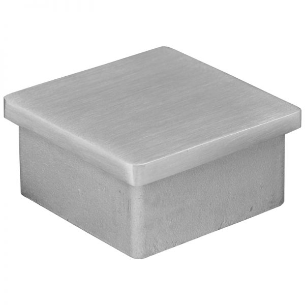 """SSZP0505016S SQUARE END CAP FOR 2"""" TUBING (SS316)"""