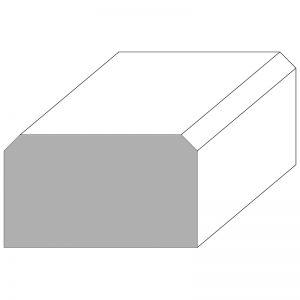 """WH41343O MODERN OAK SQUARE/CHAMFERED CORNERS HANDRAIL 3"""" x 1 3/4"""" x 12 FT."""