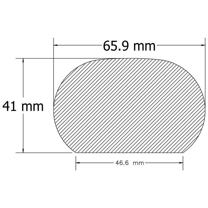 "WHOP258158 PLAIN OAK HANDRAIL 2 5/8"" x 1 5/8"" x 12 FT."