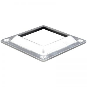 """8098 3""""SQ. ALUMINUM FLANGE WITH 4 HOLES 5""""W x 5/8""""H"""