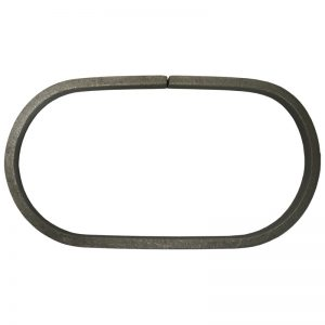 18/44  12 x 6mm CAST STEEL OVAL RING 100 x 190mm