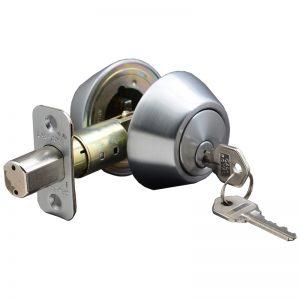 ARE24EDD4002  DEADBOLT LOCK - BRUSHED CHROME