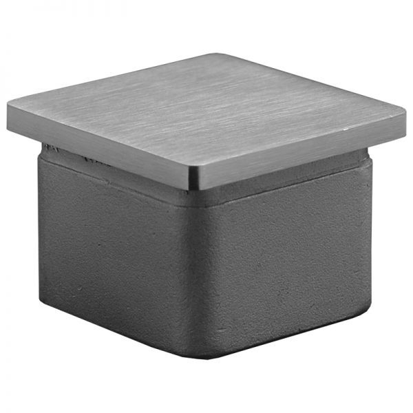 SSZP0404004S SQUARE END CAP FOR 40 x 40mm HANDRAIL (SS304)