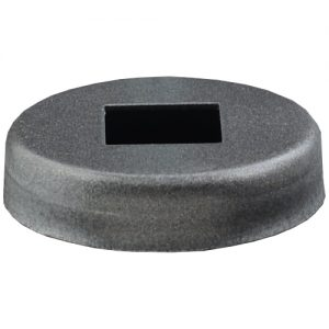 """EPCS  1 5/16""""RD. COVER SHOE WITH 1/2""""SQ. HOLE 3/8""""H"""