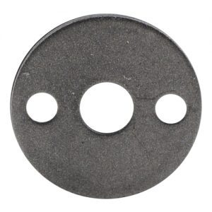 """EPL3 1 3/8""""RD. PLATE WITH 3/8""""RD. CENTER HOLE & TWO 7/32""""RD. HOLES, 3/32"""" THICK"""
