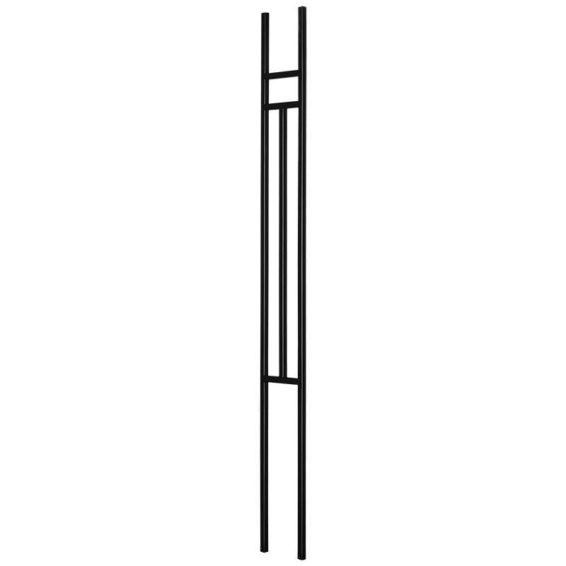 "PTM4TB  1/2""SQ. MODERN TUBULAR PANEL WITH STEM 4 3/4"" x 44"" - TEXTURED BLACK"
