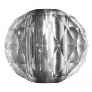 """SSBCRY2POST  2 5/8""""DIA. GLASS CRYSTAL BALL INSERT FOR STAINLESS STEEL SOLID POST 2 1/4""""H"""