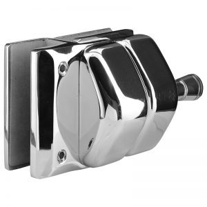 SSPFGL180SSS STAINLESS STEEL LATCH GLASS TO GLASS AT 180° - SATIN FINISH