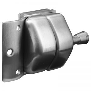 SSPFGLRSSS STAINLESS STEEL LATCH GLASS TO 42.4mm ROUND POST - SATIN FINISH