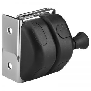 SSPFGLWS REGULAR LATCH GLASS TO WALL OR SQUARE POST - SATIN FINISH