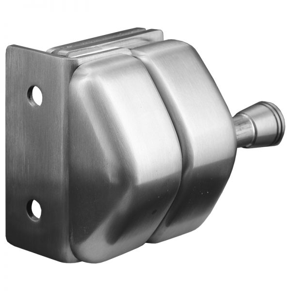 SSPFGLWSSS STAINLESS STEEL LATCH GLASS TO WALL OR SQUARE POST - SATIN FINISH