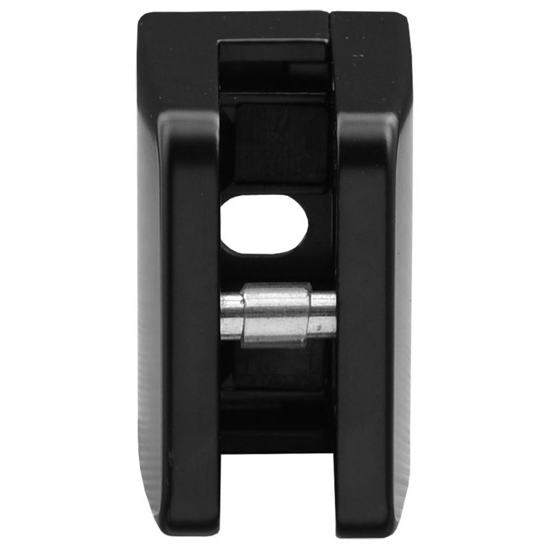 SSGC431XXZMB FLAT BACK LARGE SQUARE GLASS CLIP ZINC - BLACK