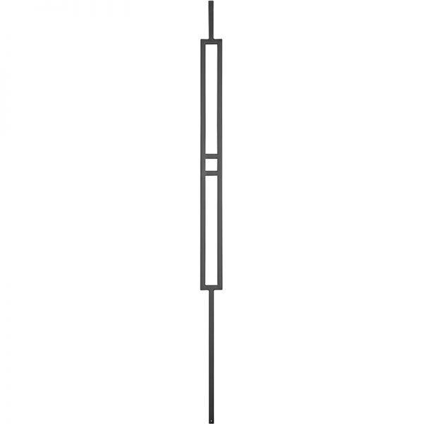 "PTMBTB 1/2""SQ. MODERN TUBULAR PANEL PICKET WITH STEM 2 1/4"" x 44"" - TEXTURED BLACK"