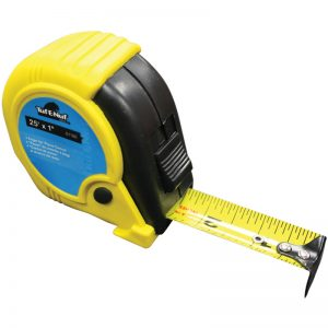 "01176 TASK 25' x 1"" RUBBER JACKET TAPE MEASURE"
