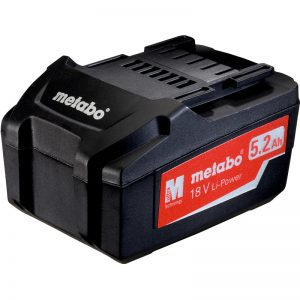 625592000 METABO AIR COOLED SINGLE BATTERY PACK 18V 5.2 Ah LITHIUM-ION BATTERY