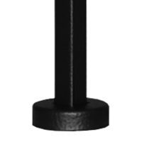 """PSWC35BR 1/2""""SQ. SOLID PICKET WITH WELDED WASHER BASE 35"""" - BLACK  RIPPLE"""