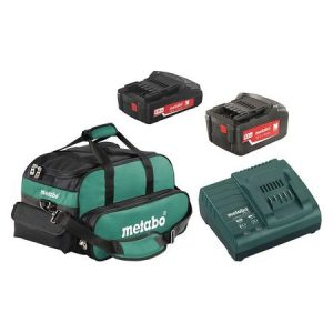 US625596052 METABO ULTRA-M BATTERY PACK AND CHARGER KIT 18V 2.0Ah + 5.2 Ah LITHIUM-ION BATTERY
