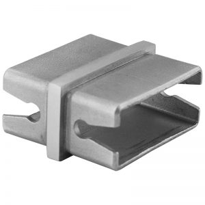 """SSEBREC2102 RECTANGULAR STRAIGHT CONNECTOR FOR 2"""" x 1"""" TUBING"""