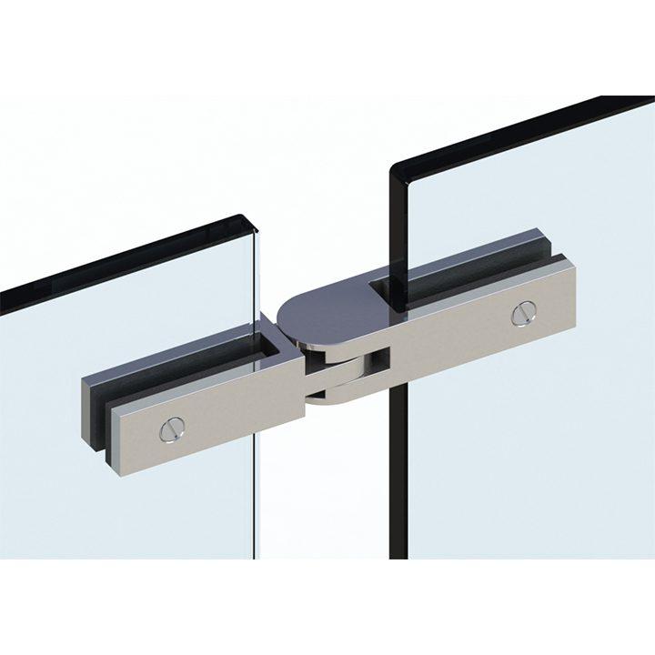 SSPFEBADJ STANDARD ULTRA SLIM FRAMELESS ADJUSTABLE GLASS CONNECTOR FOR GLASS TO GLASS (10-12mm GLASS) - SATIN FINISH