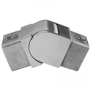 SSUTSQ040004 SQUARE CAP RAIL SWIVEL VERTICAL ELBOW FOR 40 x 40mm HANDRAIL