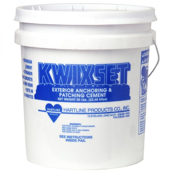 KWIXSET EXTERIOR ANCHORING & PATCHING CEMENT 50 LBS. PAIL (PORTLAND-BASED)