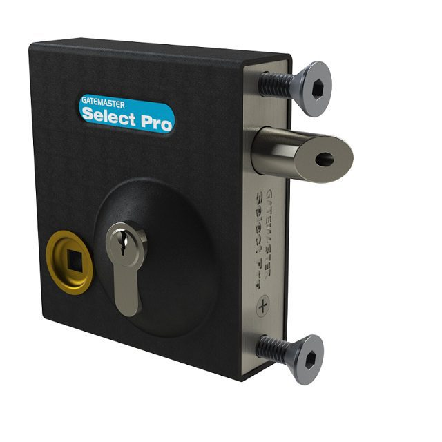 """SBLD1601 GATEMASTER SELECT PRO BOLT-ON LATCH DEADLOCK WITH HANDLE FOR 1/2"""" TO 1 1/4"""" GATE FRAMES"""