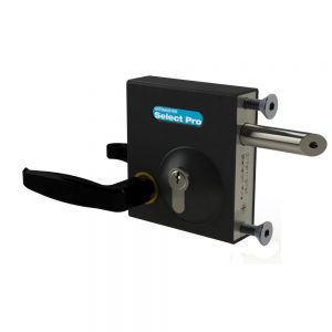"""SBLD1602 GATEMASTER SELECT PRO BOLT-ON LATCH DEADLOCK WITH HANDLE FOR 1 1/2"""" TO 2 1/4"""" GATE FRAMES"""