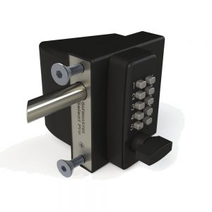 """SBQEDGLL02 GATEMASTER SELECT PRO BOLT-ON QUICK EXIT LOCK WITH DIGITAL KEYPAD ACCESS FOR 1 1/2"""" TO 2 1/4"""" GATE FRAMES - LEFT HAND"""