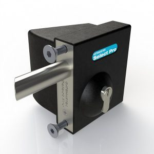 """SBQEKLL01 GATEMASTER SELECT PRO BOLT-ON QUICK EXIT LOCK WITH KEY ACCESS FOR 1/2"""" TO 1 1/4"""" GATE FRAMES - LEFT HAND"""