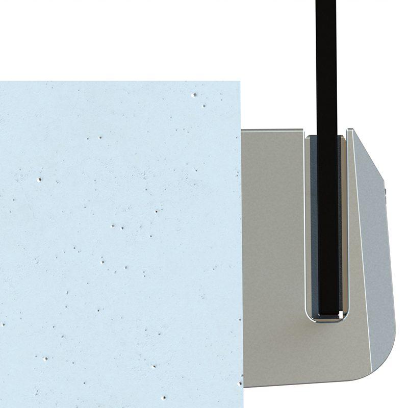 SSSPIGOTSIDE TILT-LOCK™ ADJUSTABLE SIDE MOUNT SPIGOT 89 x 48 x 150mm - SATIN FINISH