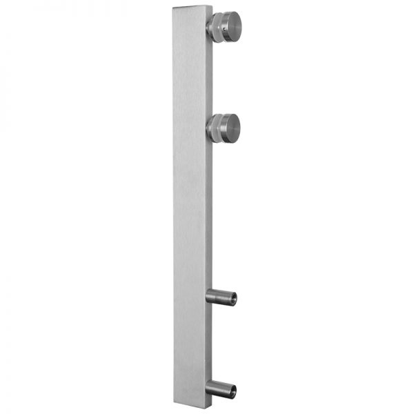 ALMPC112SIDE mlevel SIDE MOUNT MINI POST - CLEAR ANODIZED ALUMINUM