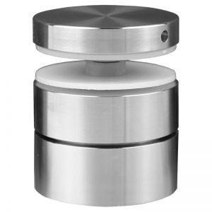 "SSASF2112 mlevel ADJUSTABLE ROUND STANDOFF FLAT CAP 2"" x 1 1/2"" (SS304)"