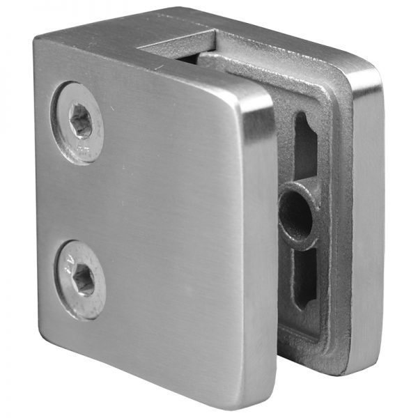 SSGC301XX16S SMALL SQUARE GLASS CLIP SS316 FOR FLAT POST