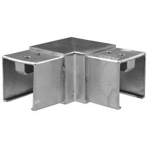 SSUTSQ040003 SQUARE CAP RAIL HORIZONTAL 90° ELBOW FOR 40 x 40mm HANDRAIL