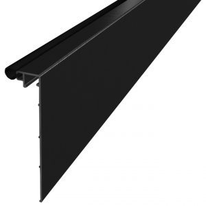 SSSM3CLADB TILT-LOCK™ ADJUSTABLE BASE SHOE BLACK ANODIZED ALUMINUM CLADDING 10 FT. FOR TOP MOUNT APPLICATIONS (SSSM3 SERIES)