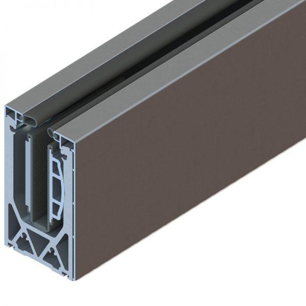 SSSM3SIDE10A TILT-LOCK™ ADJUSTABLE SIDE MOUNT BASE SHOE FOR 12-13mm GLASS 10 FT. KIT - ALUMINUM CLADDING