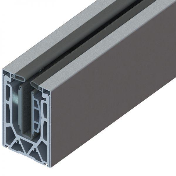 SSSM4SHOE10A TILT-LOCK™ ADJUSTABLE TOP MOUNT BASE SHOE FOR 16-17.52mm GLASS 10 FT. KIT - ALUMINUM CLADDING
