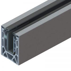 SSSM5SHOE10A TILT-LOCK™ ADJUSTABLE TOP MOUNT BASE SHOE FOR 19-21.52mm GLASS 10 FT. KIT - ALUMINUM CLADDING