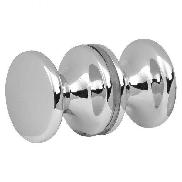 SSSFDK3CP TRADITIONAL ROUND GLASS DOORKNOB 32mm DIA. x 26.5mm - CHROME