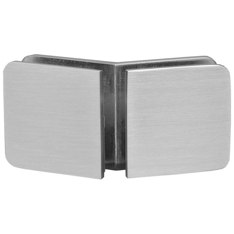 SSSFGC135BN GLASS CONNECTOR FOR GLASS TO GLASS AT 135° - BRUSHED NICKEL
