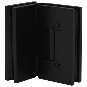 SSSFH90B STANDARD HINGE FOR GLASS TO GLASS AT 90° - SATIN BLACK