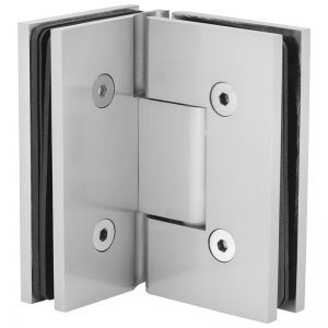 SSSFH90BN STANDARD HINGE FOR GLASS TO GLASS AT 90° - BRUSHED NICKEL