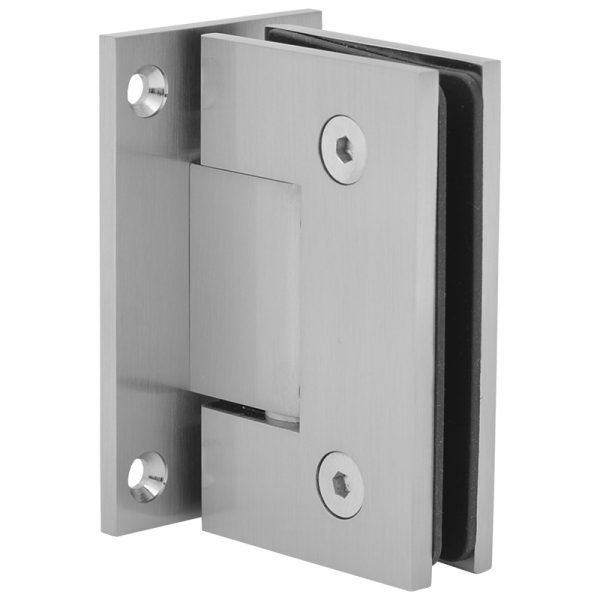 SSSFHWLBN HEAVY DUTY HINGE FOR GLASS TO WALL - BRUSHED NICKEL