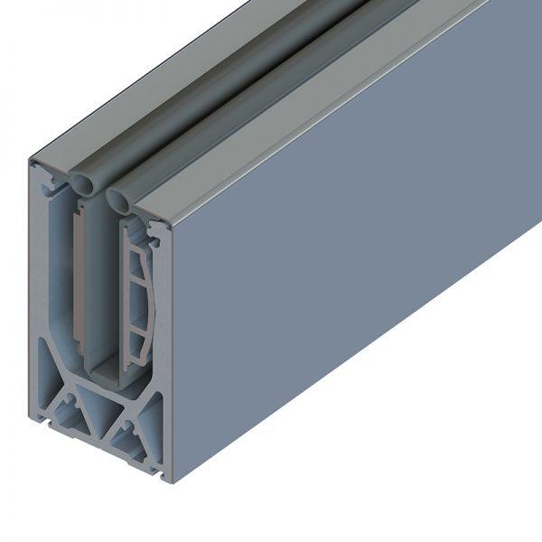 SSSM3SHOE10S TILT-LOCK™ ADJUSTABLE TOP MOUNT BASE SHOE FOR 12-13mm GLASS 10 FT. KIT - STAINLESS STEEL SATIN FINISH CLADDING