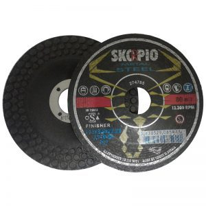 "FW41218 4 1/2"" x 1/8"" x 7/8"" SKORPIO FINISHER WHEEL DEPRESSED"